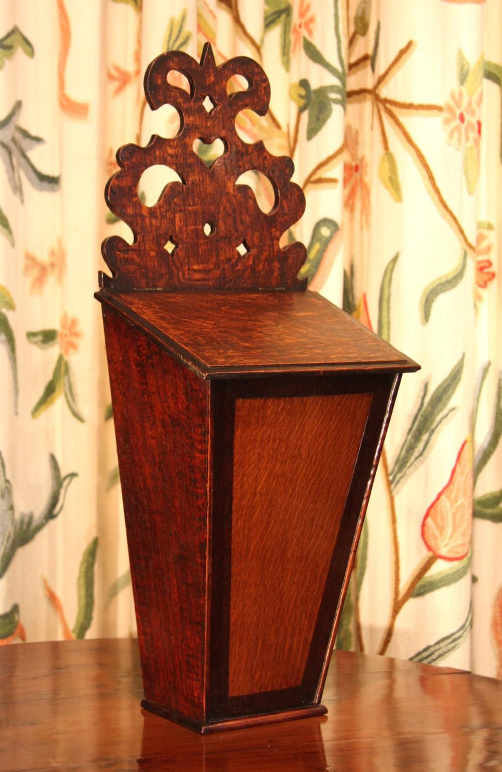georgian oak candle box