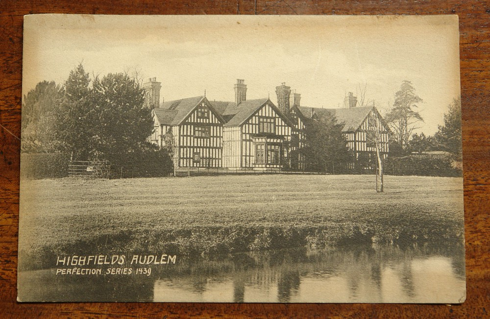 postcard of highfields audlem