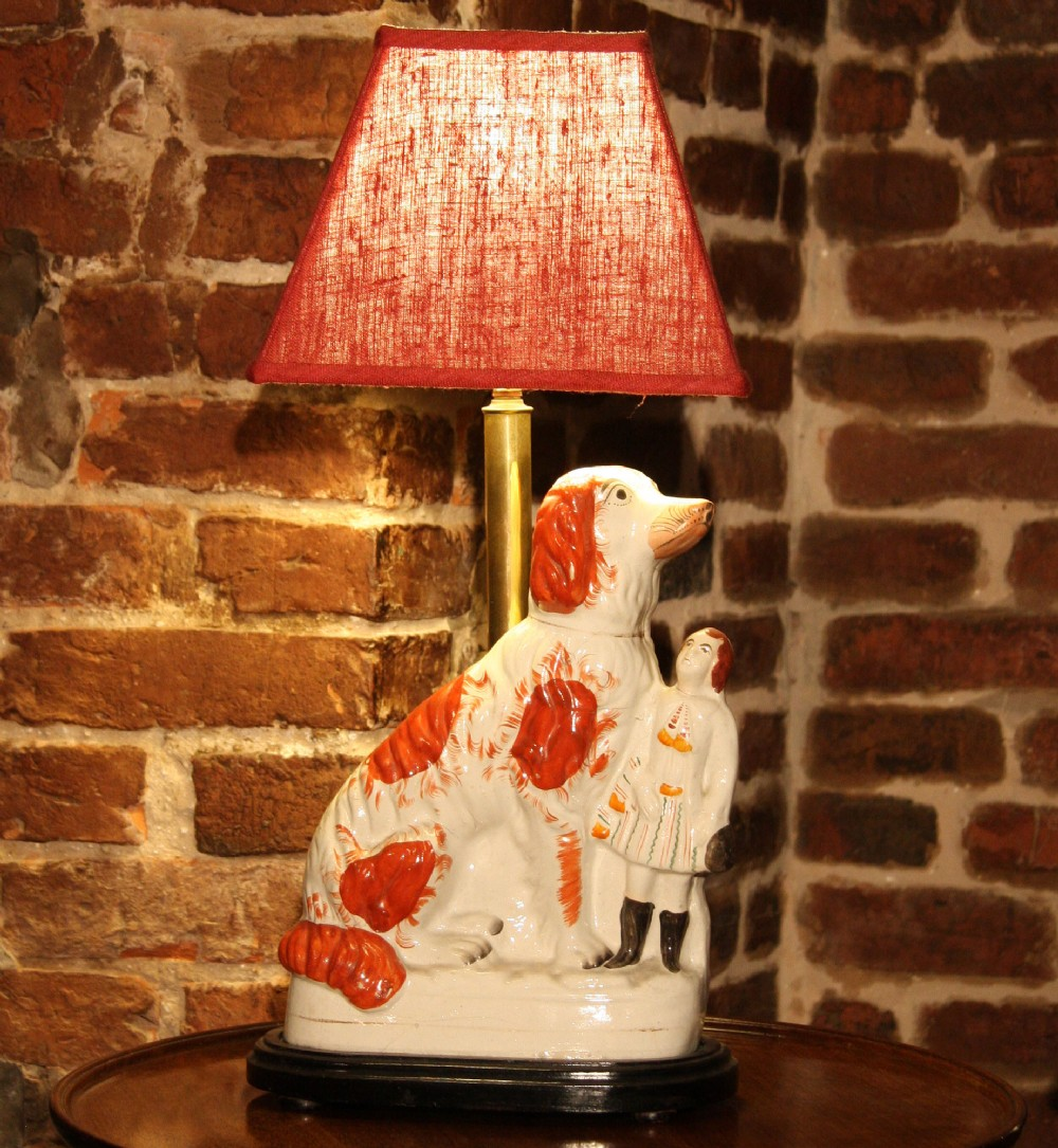 staffordshire figure made into lamp