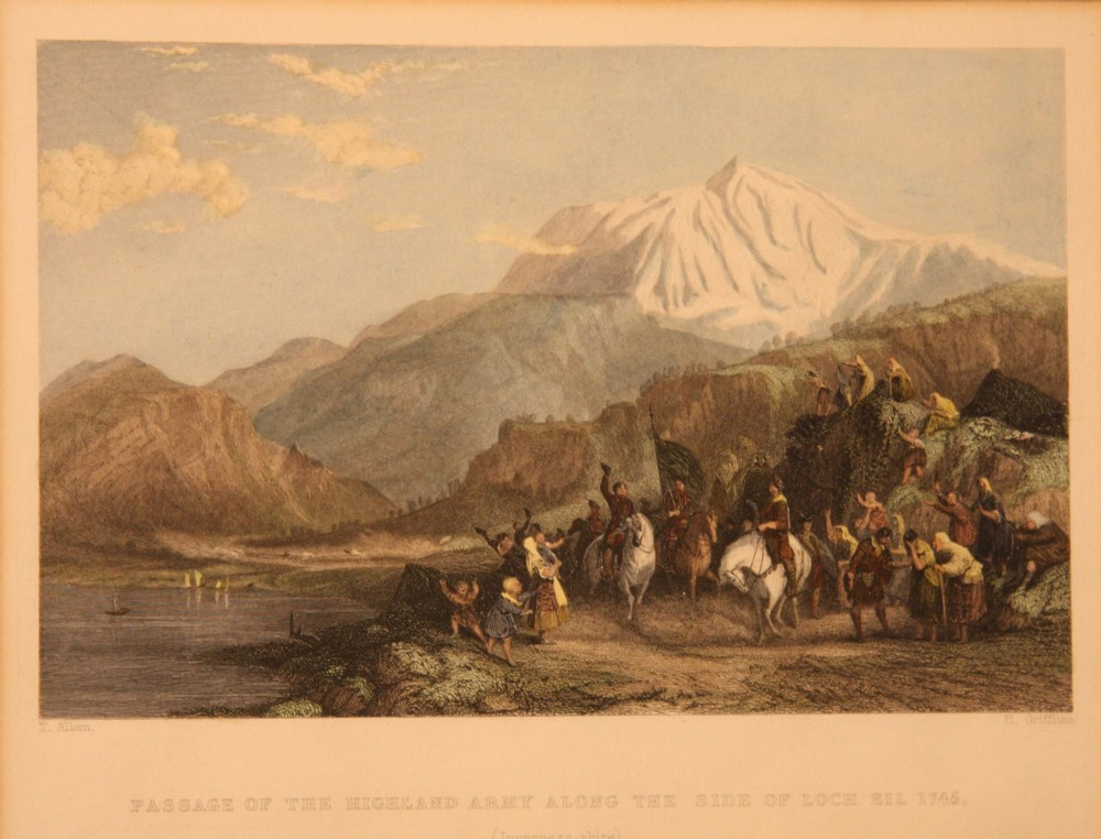 victorian print of scottish scene