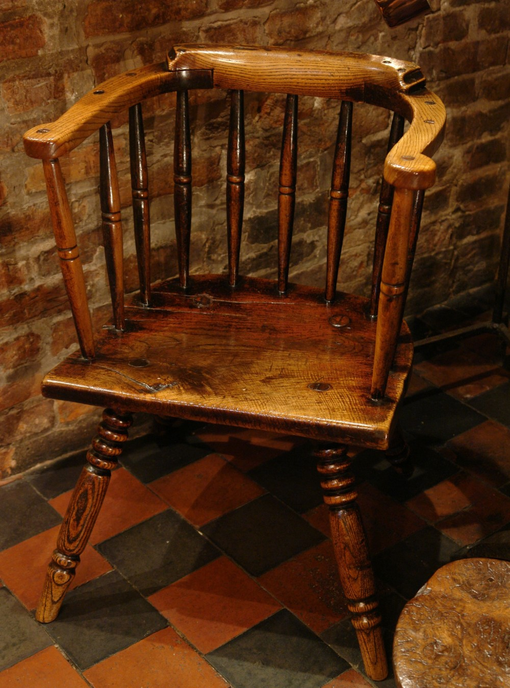 primitive welsh country chair