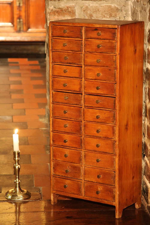 victorian pine collectors specimen cabinet