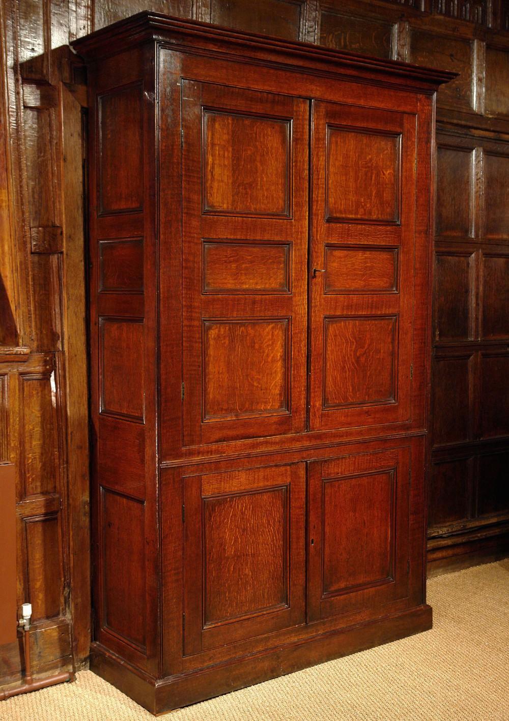georgian welsh oak cupboard