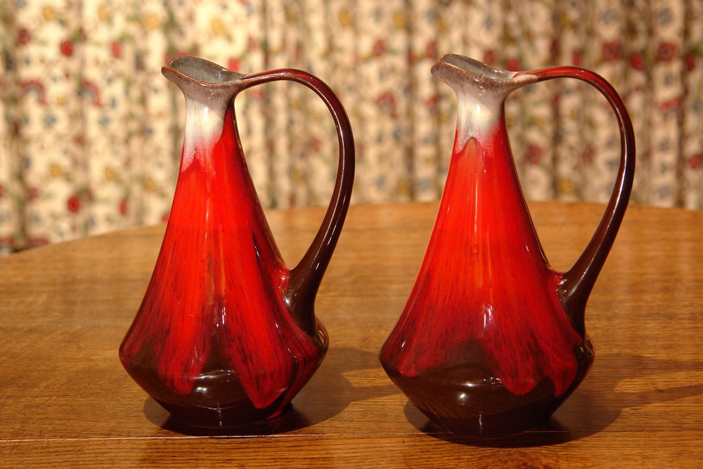 pair of art deco art pottery vases