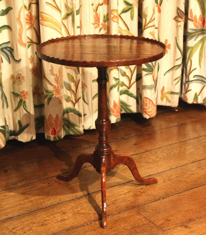 georgian oak tripod wine table