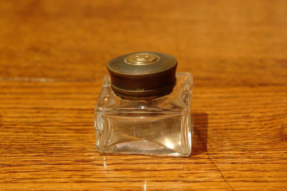victorian glass ink bottle