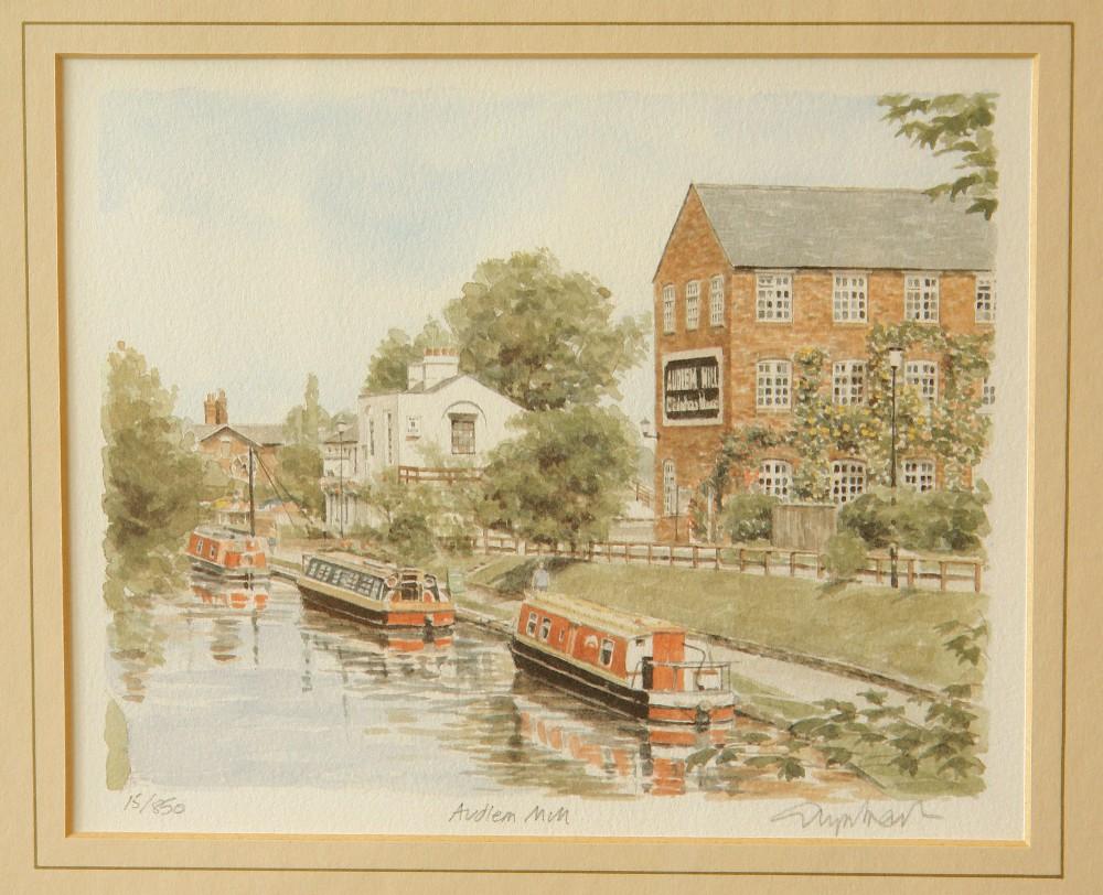 framed print of audlem mill