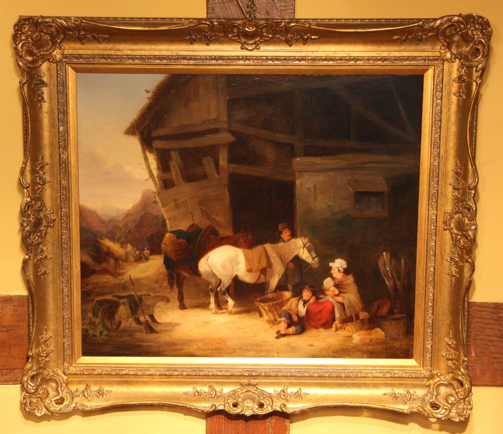 victorian oil painting by william shayer senior