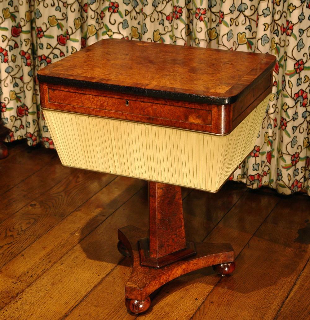 regency burr oak sewing table