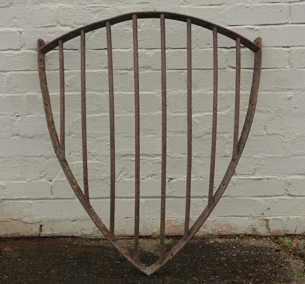 victorian cast iron corner hay rack planter