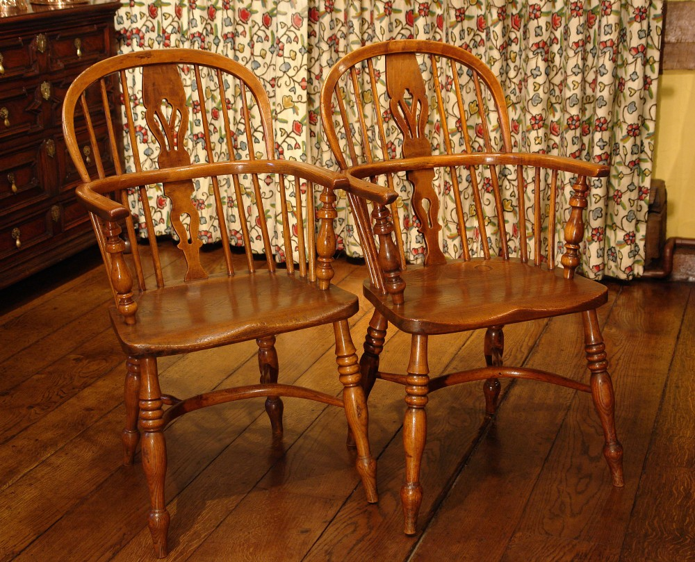 pair of victorian windsor dining chairs