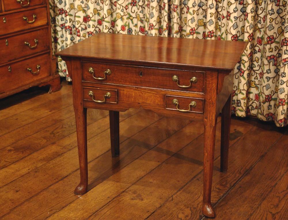 georgian country oak low boy side table