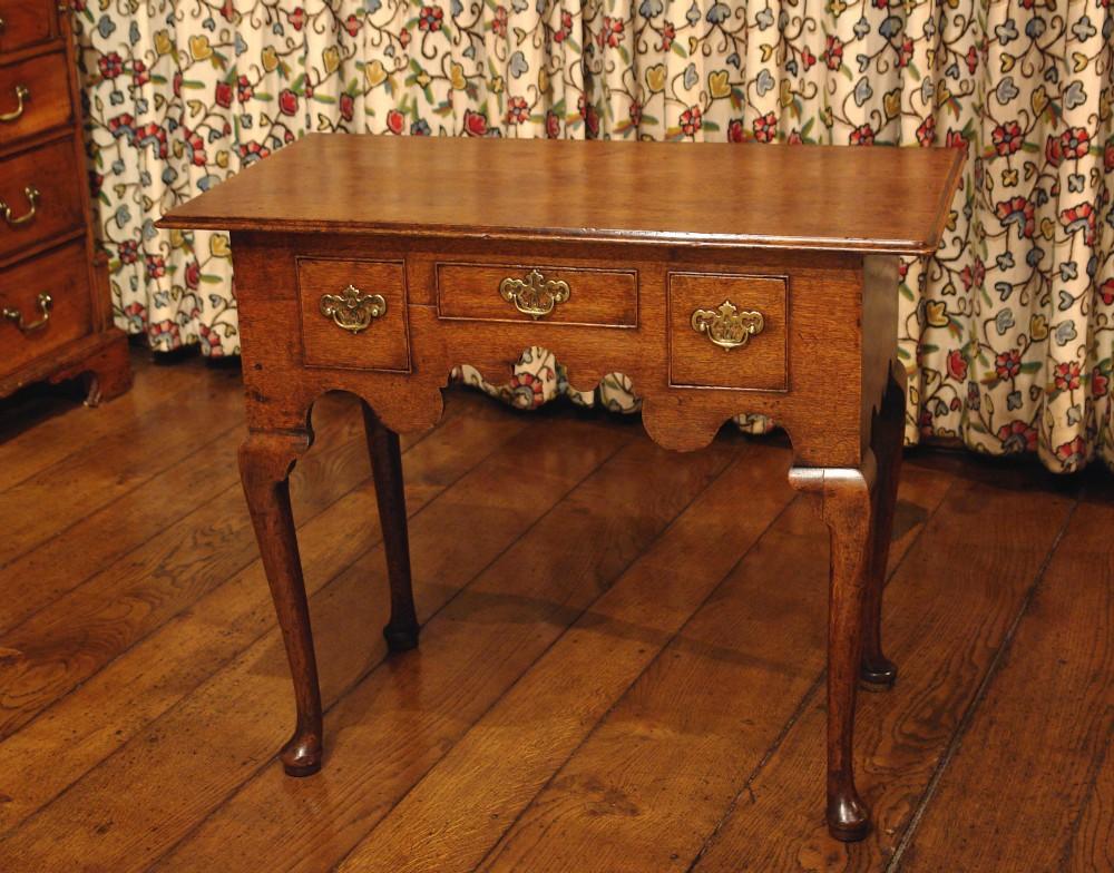 georgian oak low boy side table