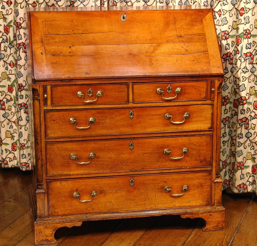 rare georgian fruitwood bureau