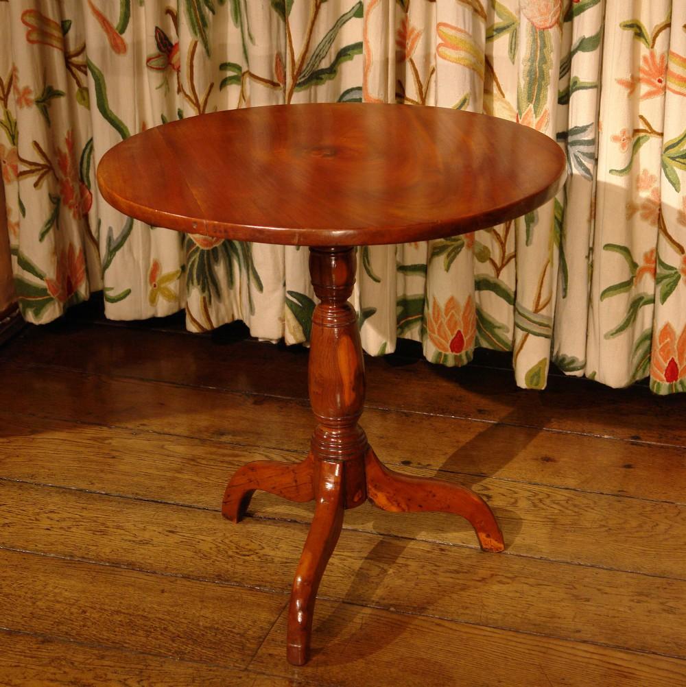 regency mahogany and yew tripod table