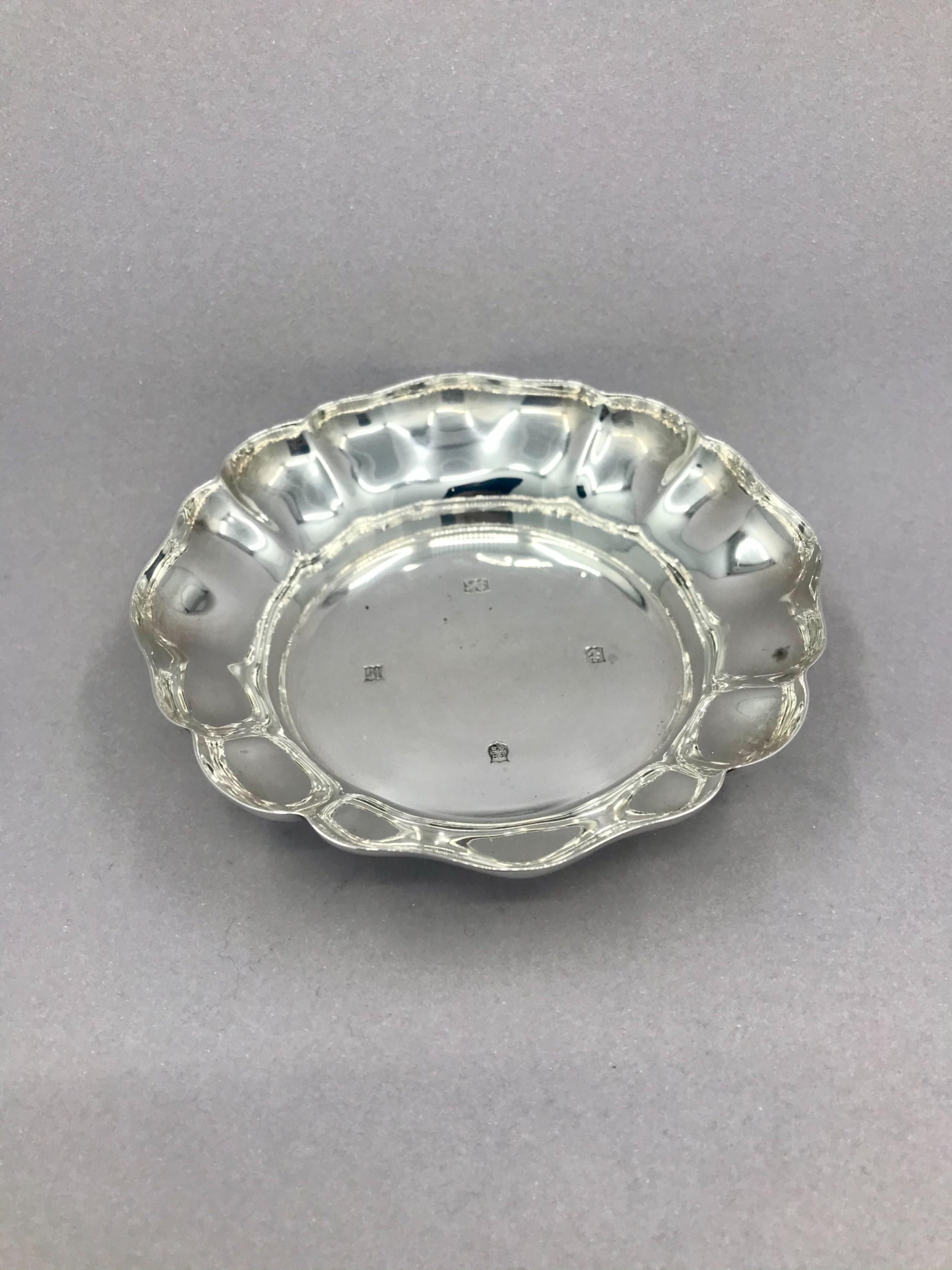 a vintage hallmarked silver dish birmingham 1971