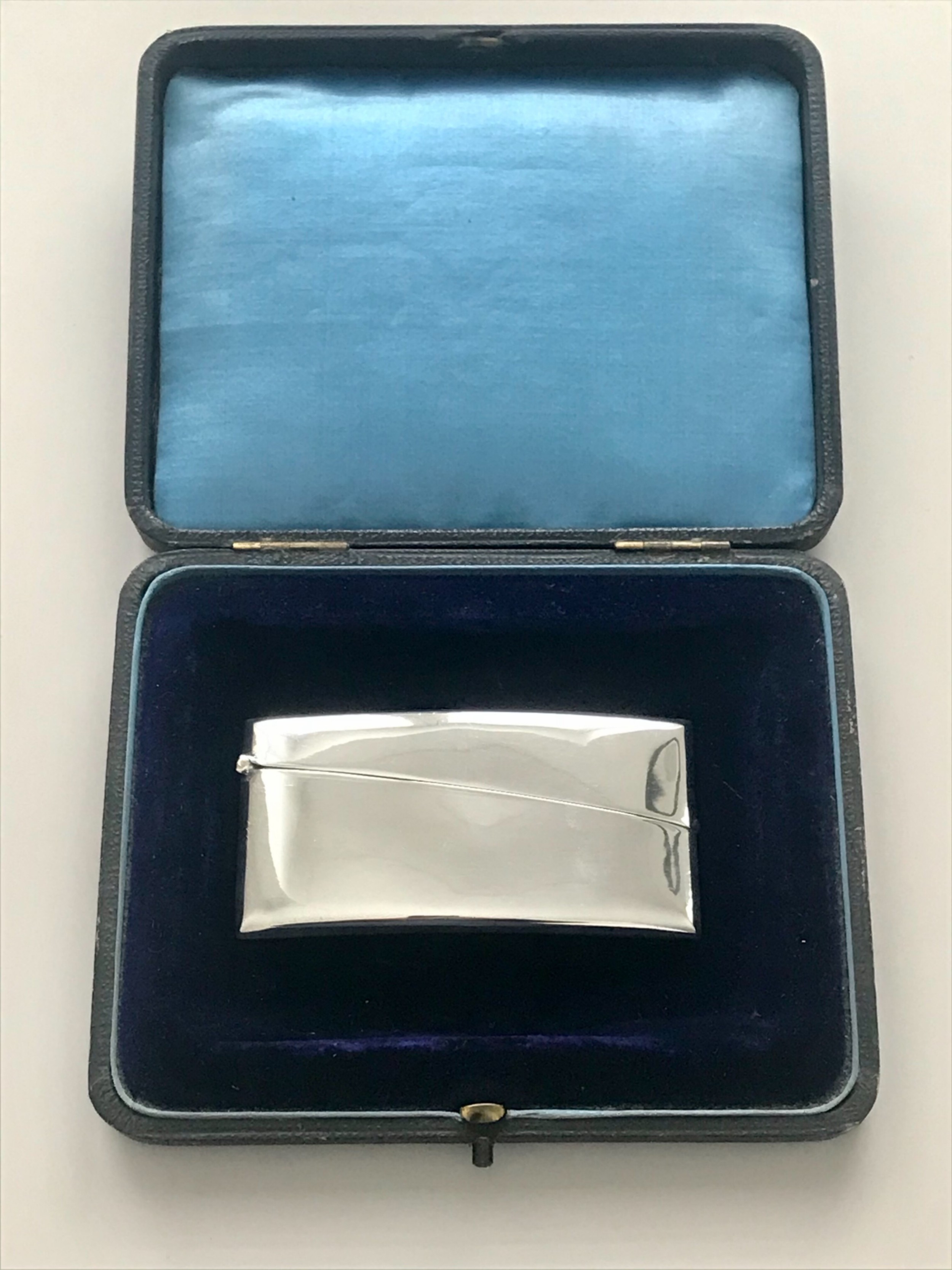 silver card case hallmarked birmingham 1923