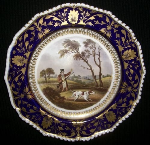 Thumbnail picture of: Very Rare Bloor Derby Dessert Plate Partridge Shooting By Daniel Lucas c.1820