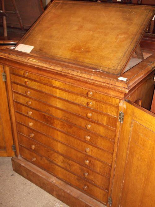 Oak Folio Cabinet | 178264 | Sellingantiques.co.uk