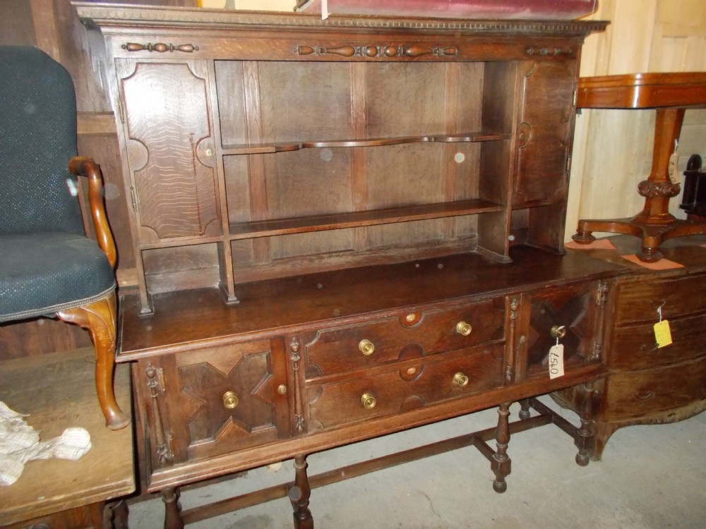 solid oak early 20th century 2 part dresser