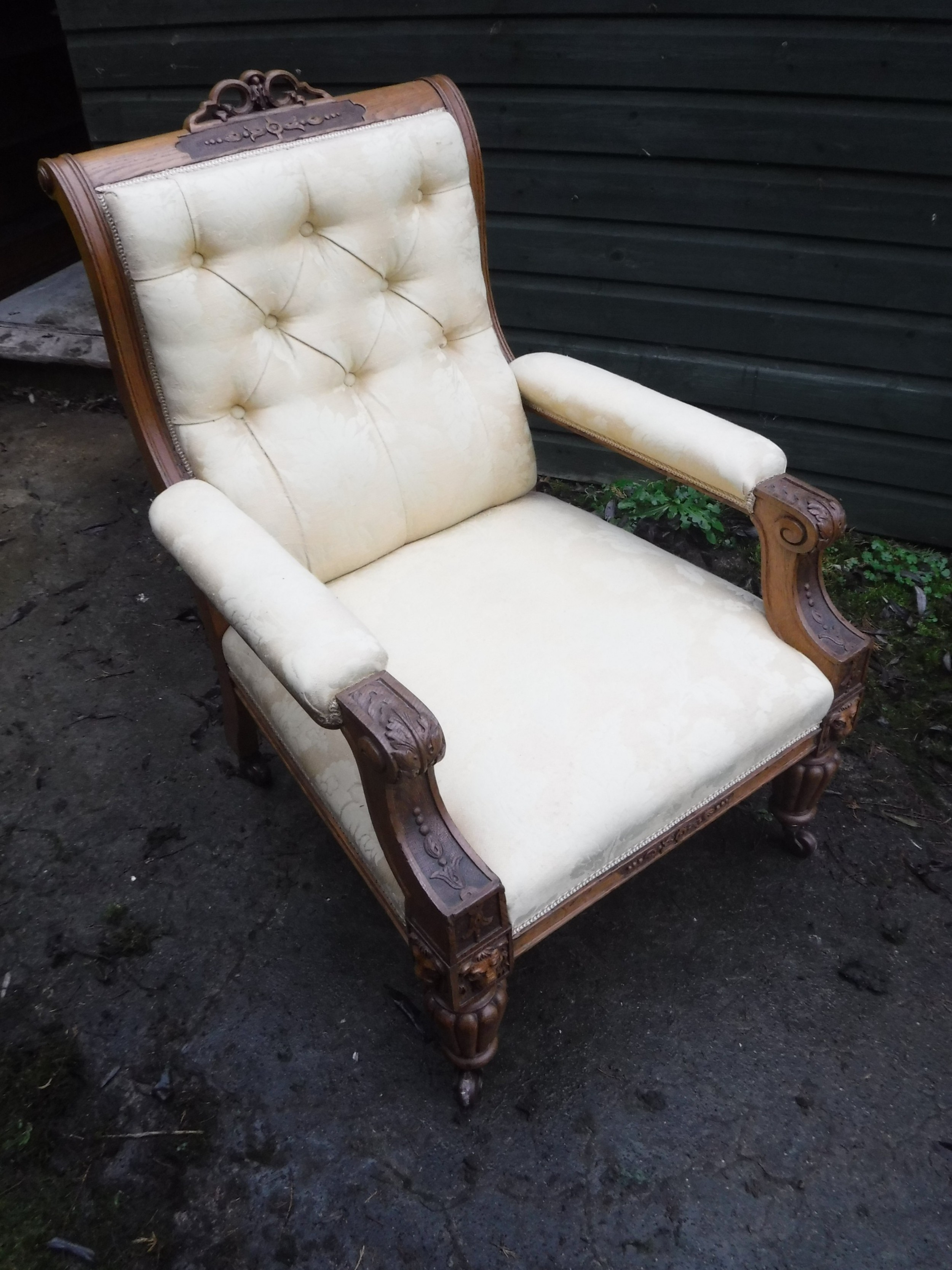 good quality 19th century librarydrawing room chair