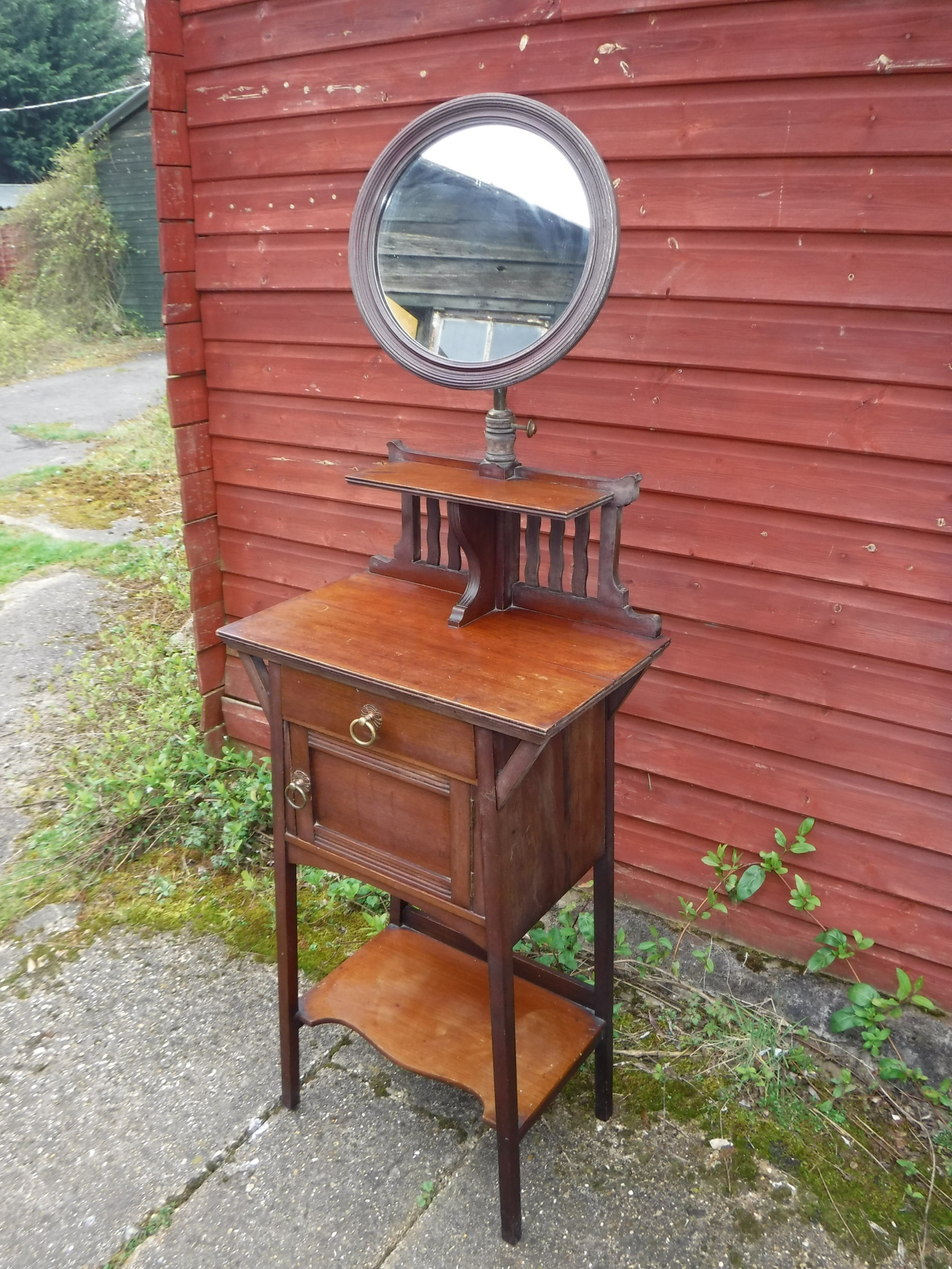 late 19th century shaving stand in the manner of liberty
