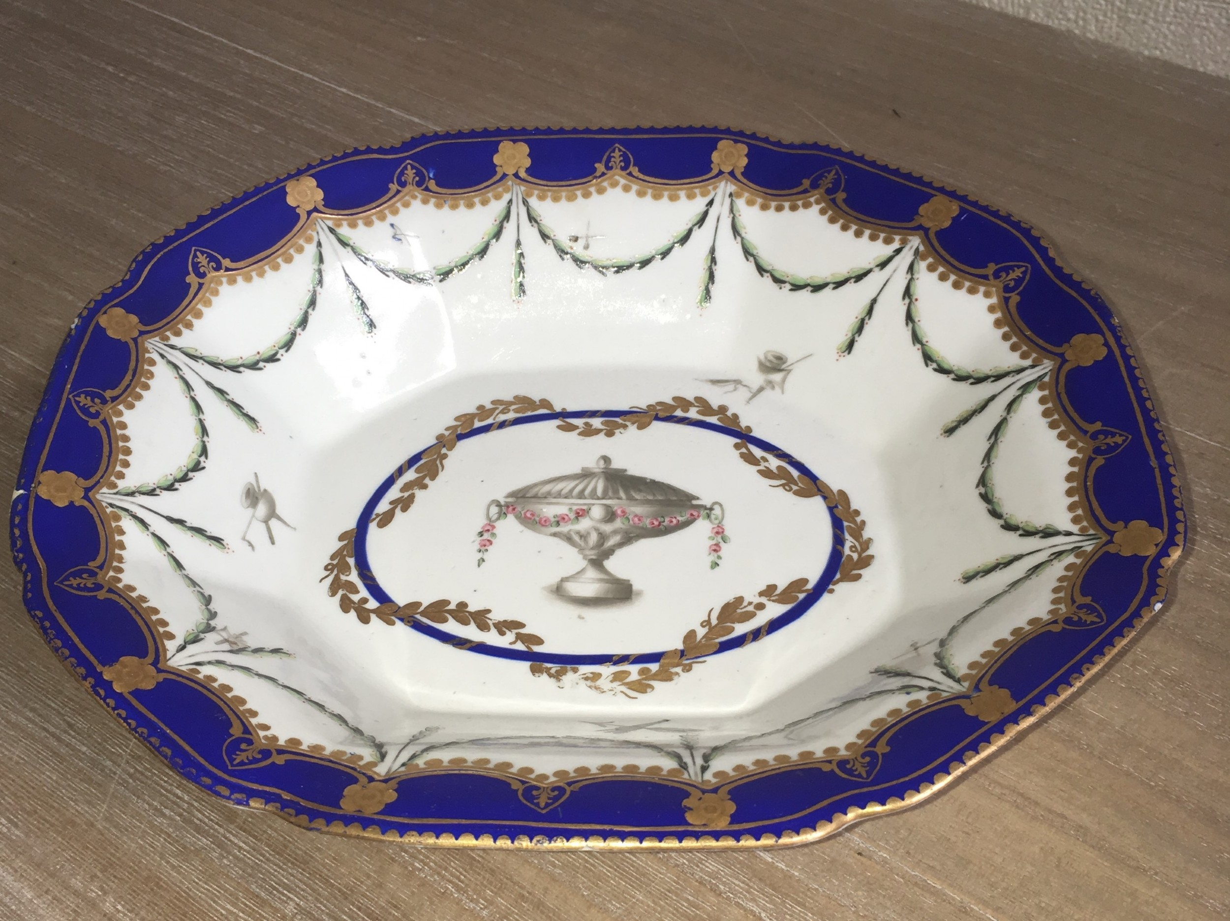 derby porcelain dish circa 177277
