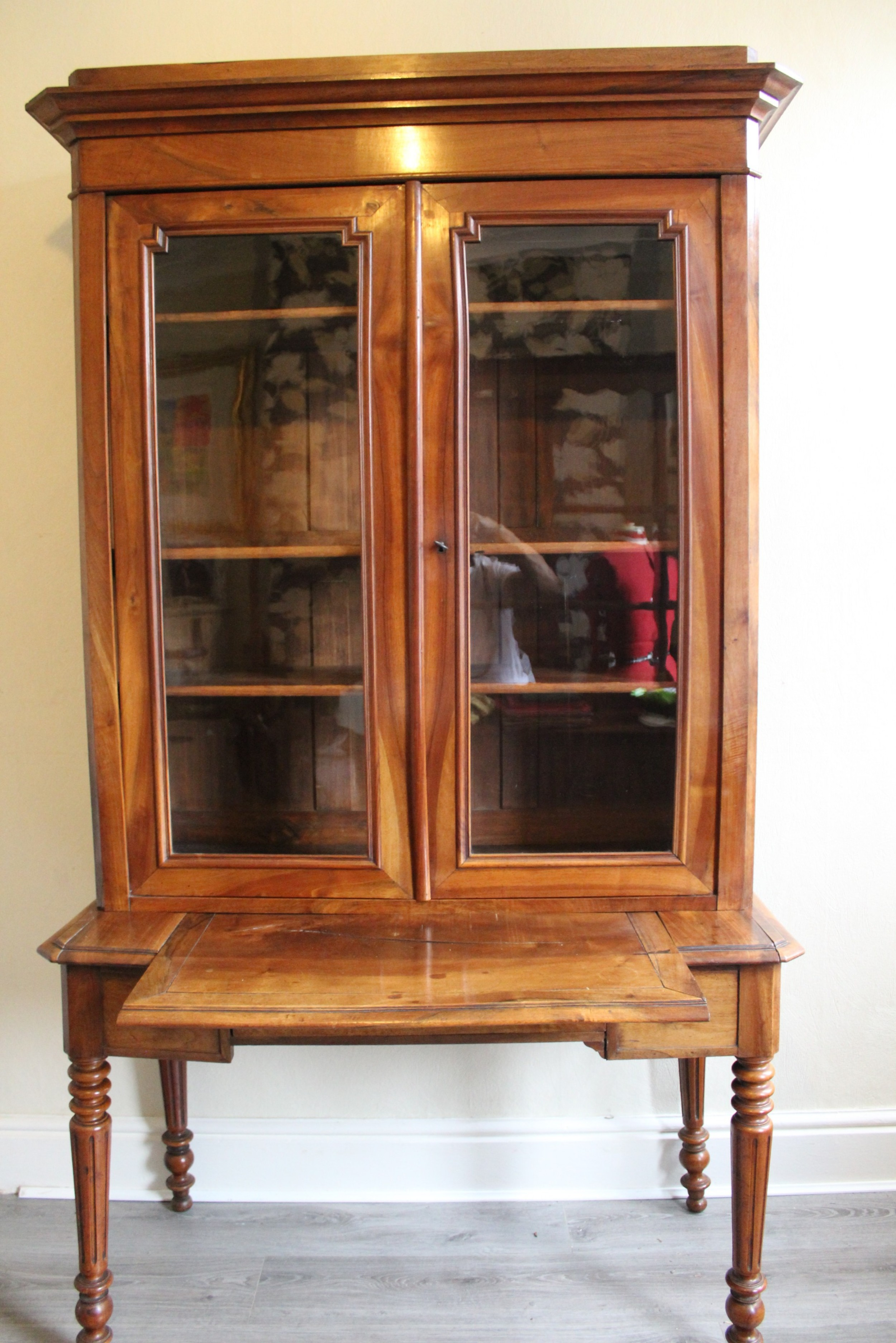 19th century french walnut bookcase