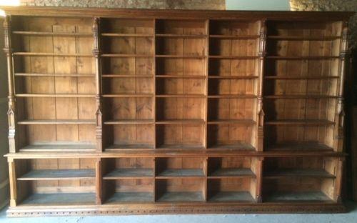 Amazing A Large Gothic Oak Bookcase