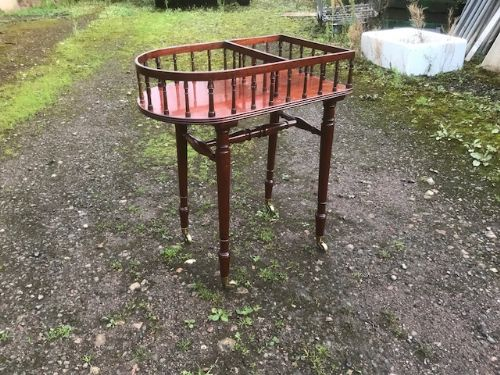 19th century rosewood plate stand by gillows of lancaster