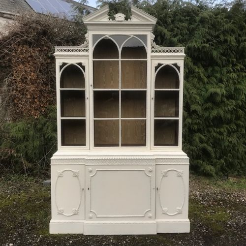 a 19th century chippendale revival bookcase
