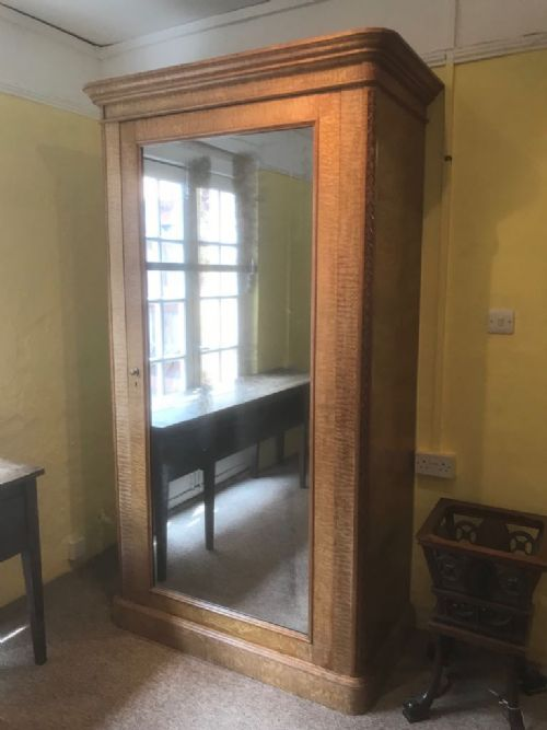 19th c hungarian ash single door wardrobe by holland sons c 1870