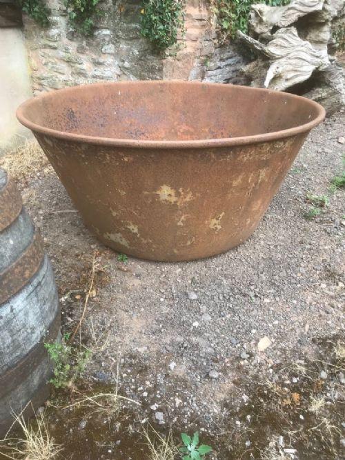 19th c large steel planter
