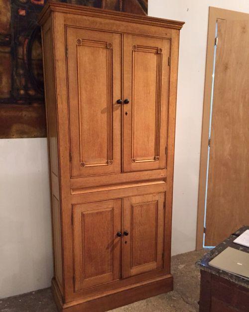 19thc oak estate kitchen cupboard of slender proportions
