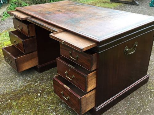 chippendale period mahogany partners desk