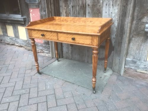 19thc satinwood birch dressing table by gillows of lancaster