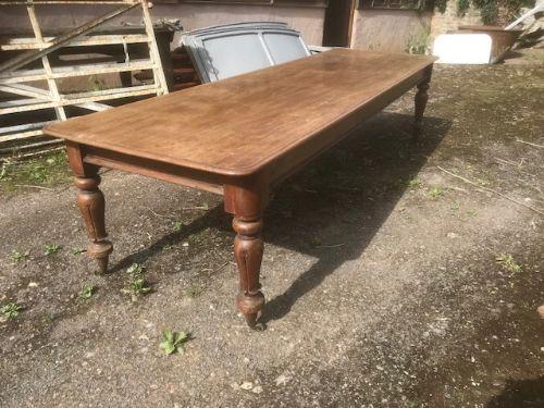 19thc mahogany 10ft refectory table