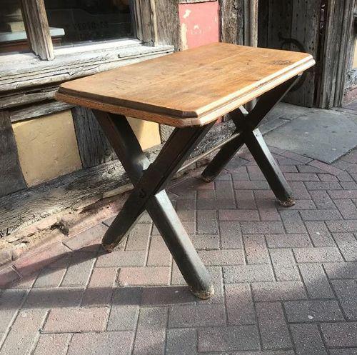 19thc pine oak tavern table