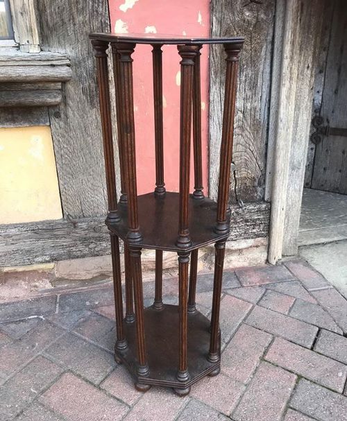 19thc oak stand to store rolled up drawingsdocuments