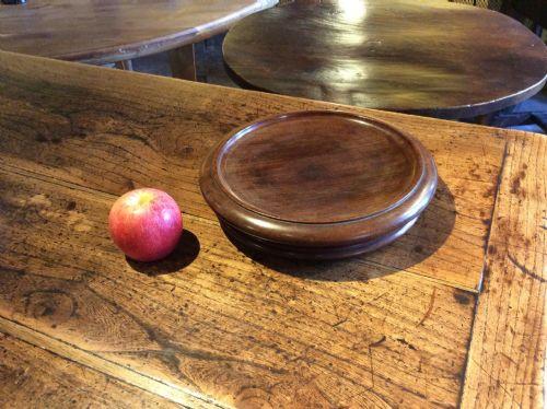 19thc mahogany large wine coaster
