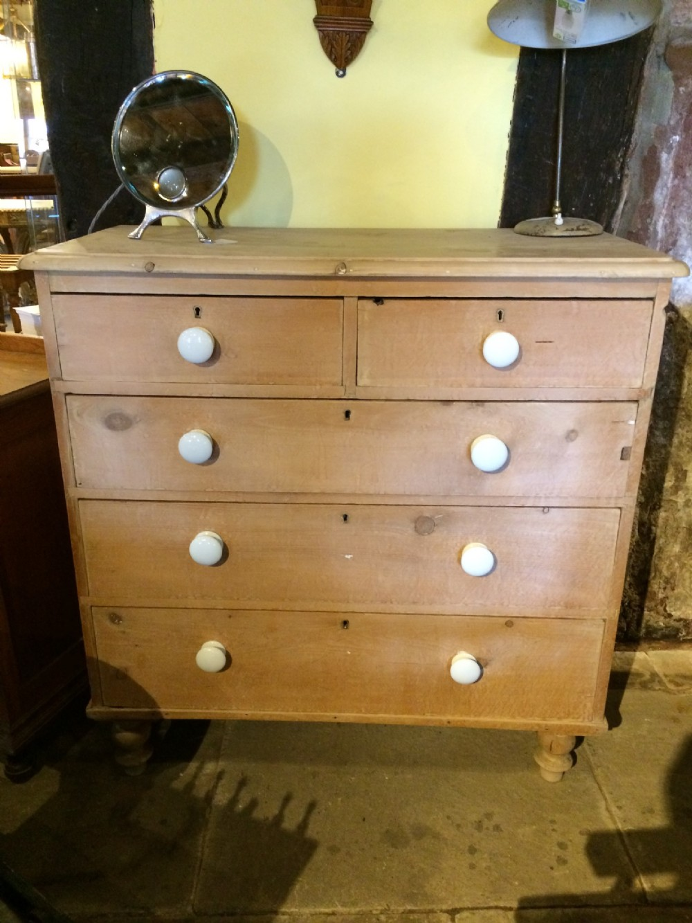 19th c pine chest of drawers