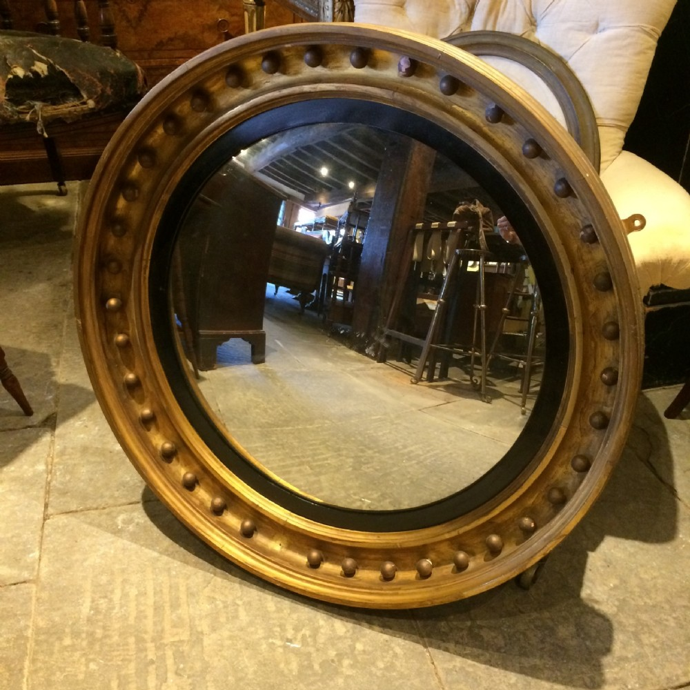 early 19th c large convex mirror