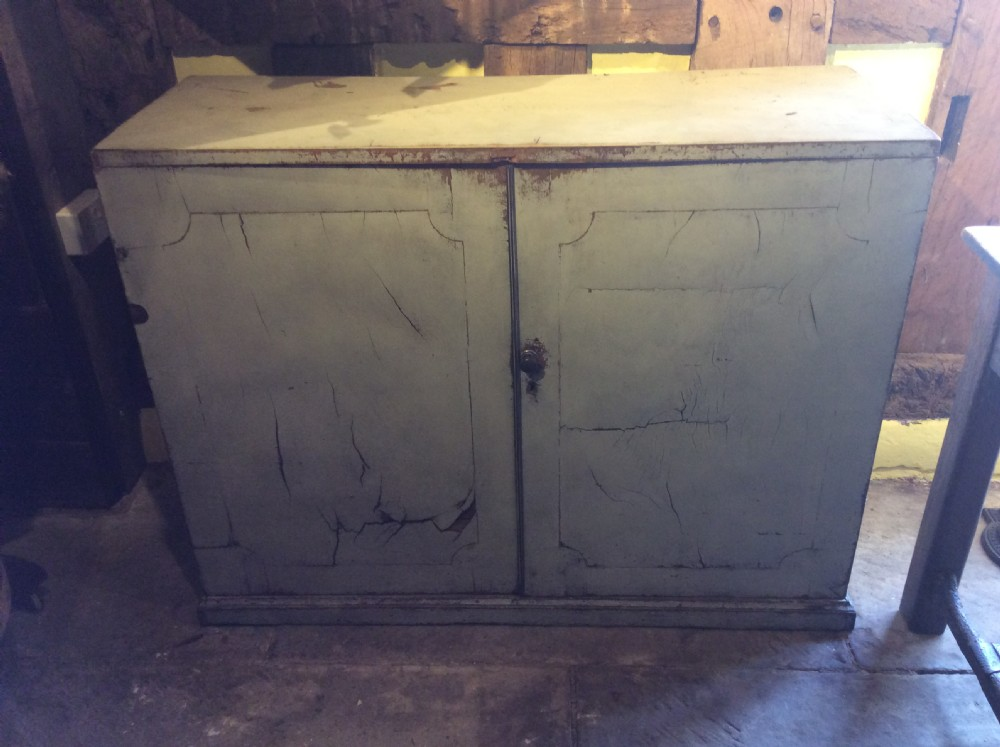 18thc mahogany painted country house estate cupboard base