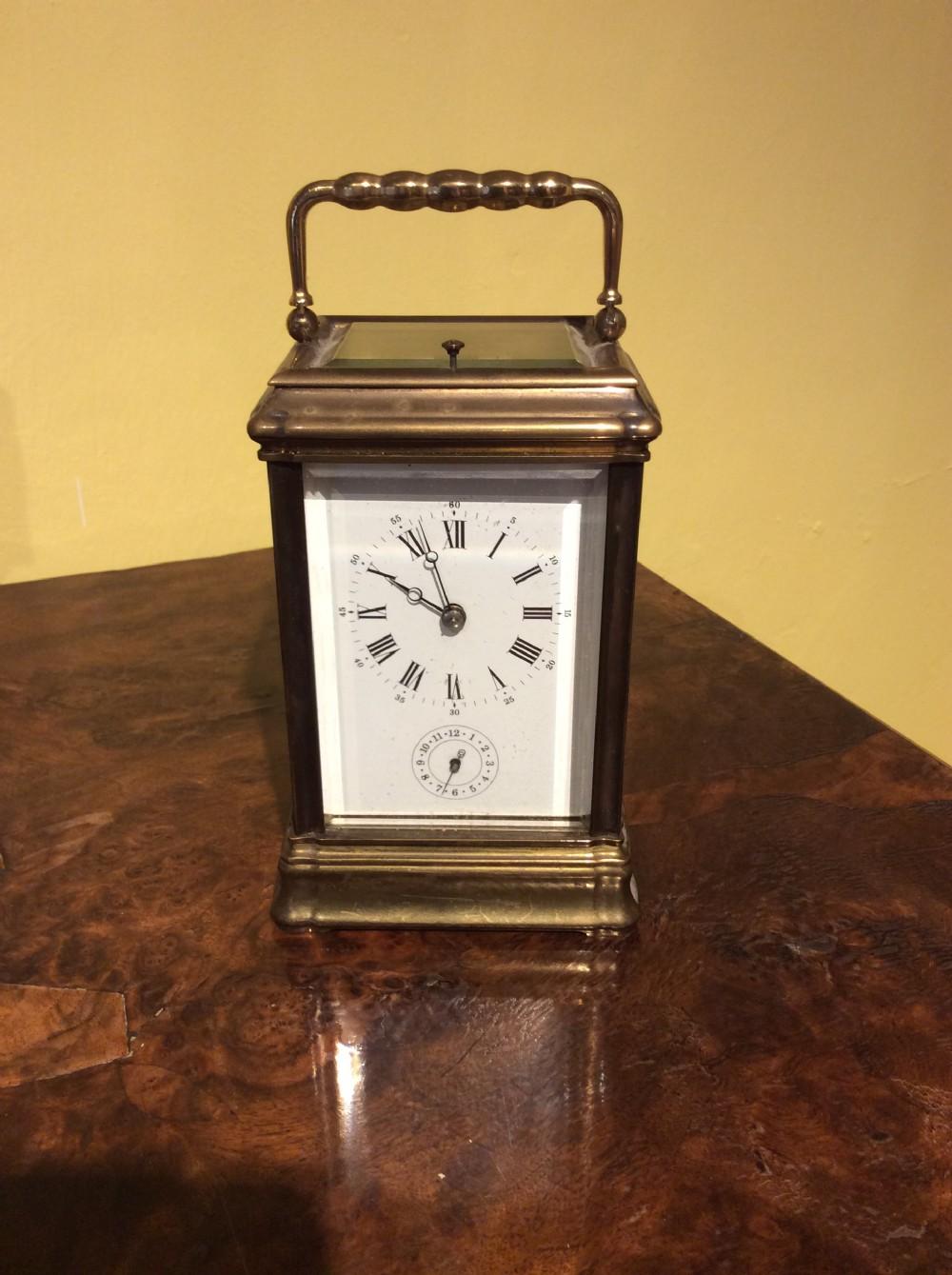 brass carriage clock c1920