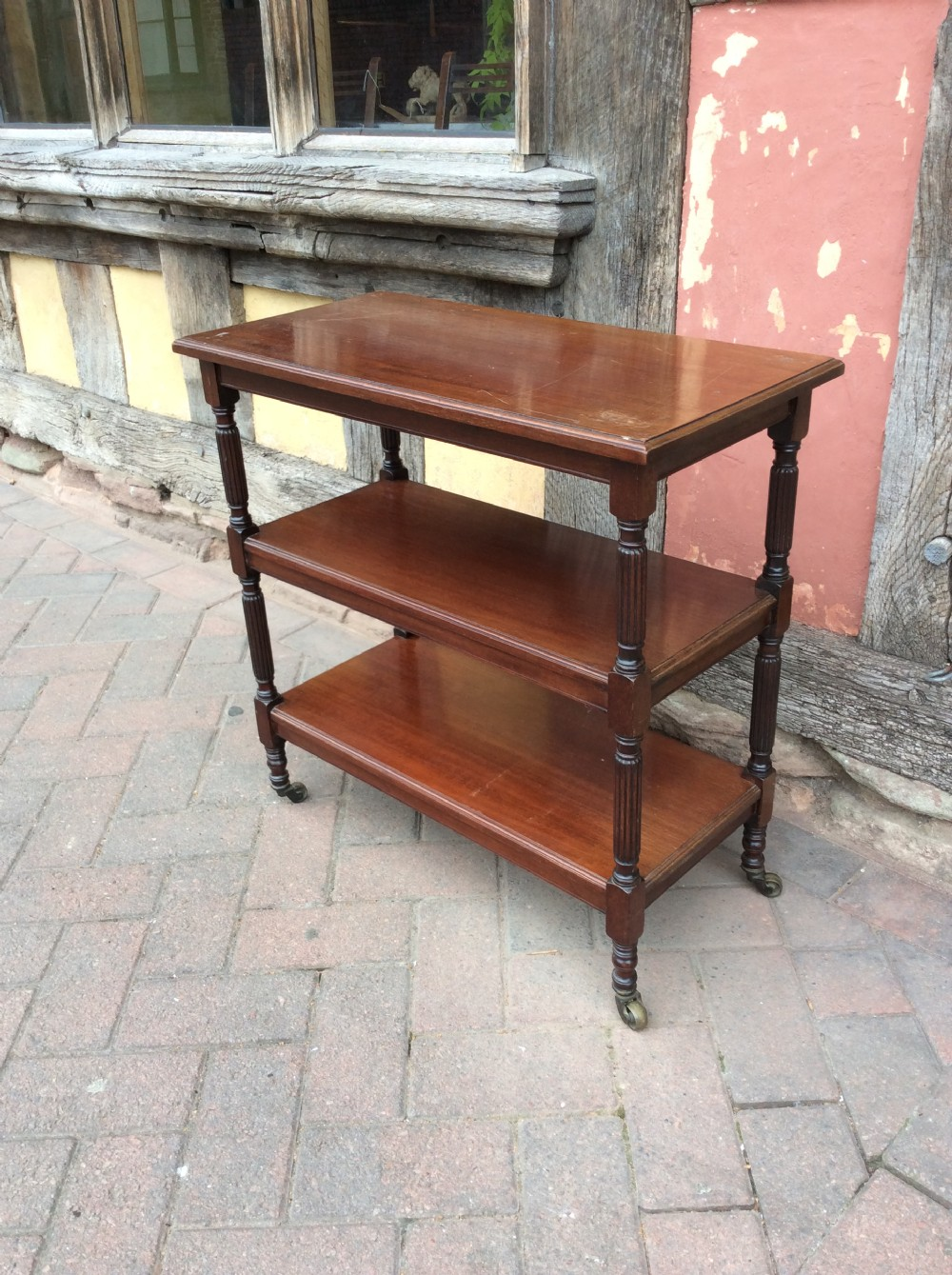 19thc mahogany whatnot tagres by c hindley sons oxford st london
