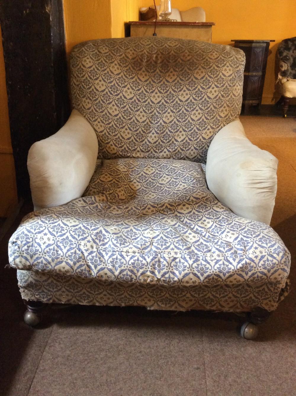 19thc oak turned leg ivor howard sons armchair