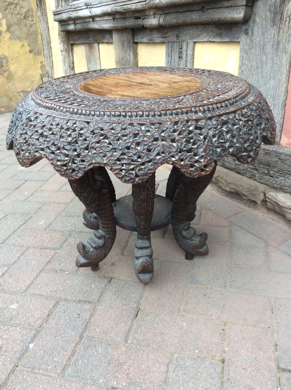 19thc carved burmese table