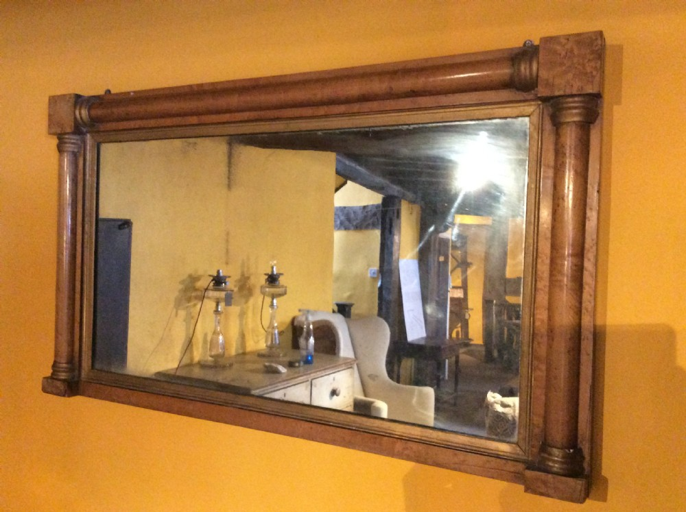 19thc birds eye maple mirror