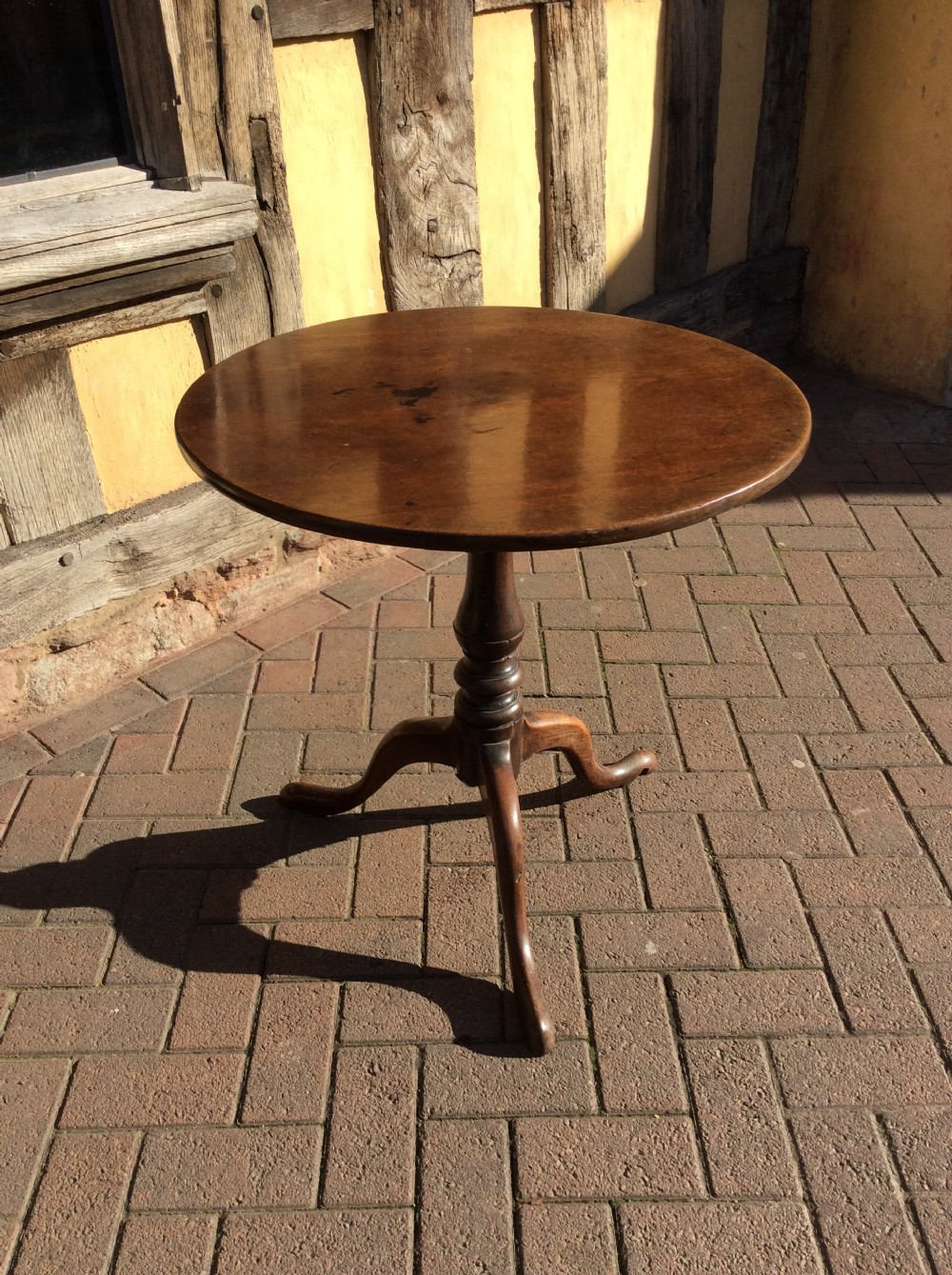 18thc mahogany tripod table
