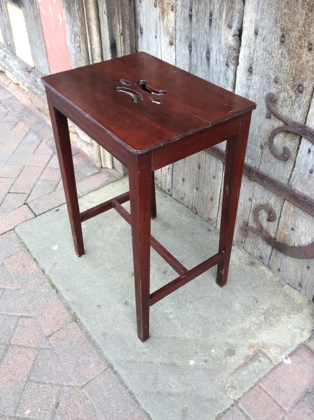 18thc mahogany stool